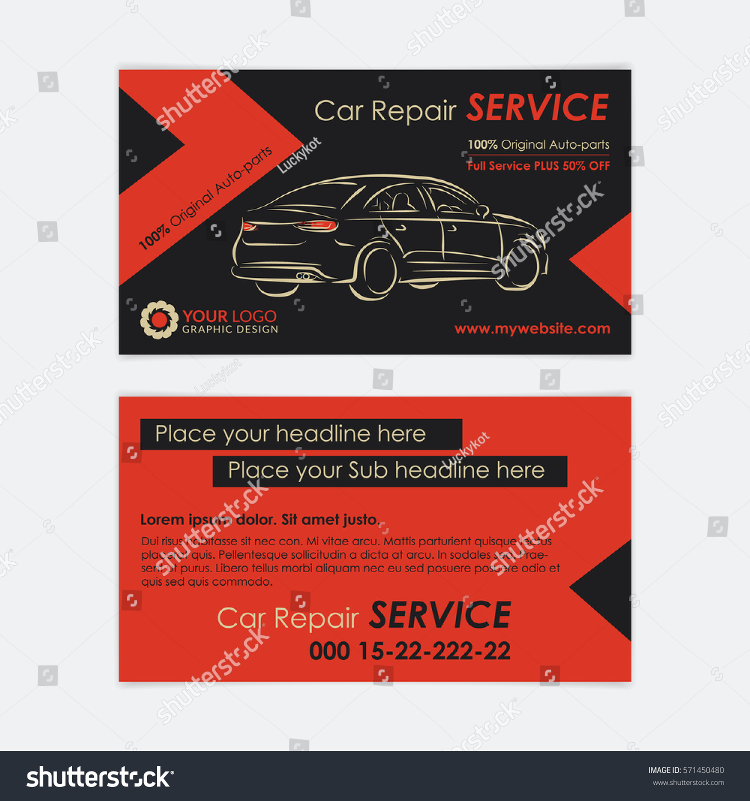 Auto repair business card template create stock vector royalty free auto repair business card template create your own business cards mockup vector illustration wajeb Choice Image