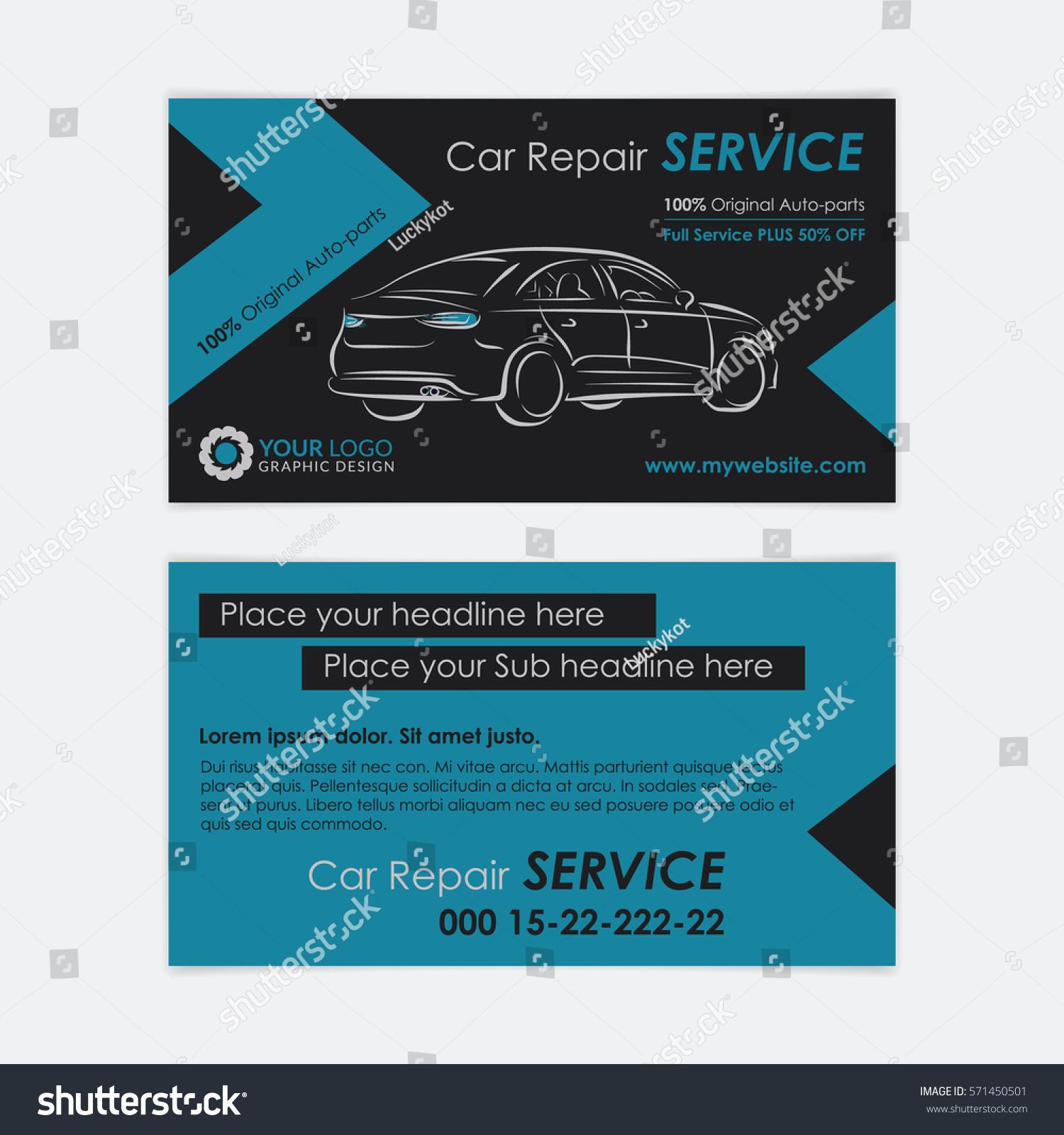 Auto repair business card template create stock vector hd royalty auto repair business card template create your own business cards mockup vector illustration flashek Choice Image