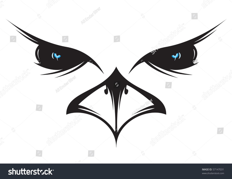 Owl head silhouette