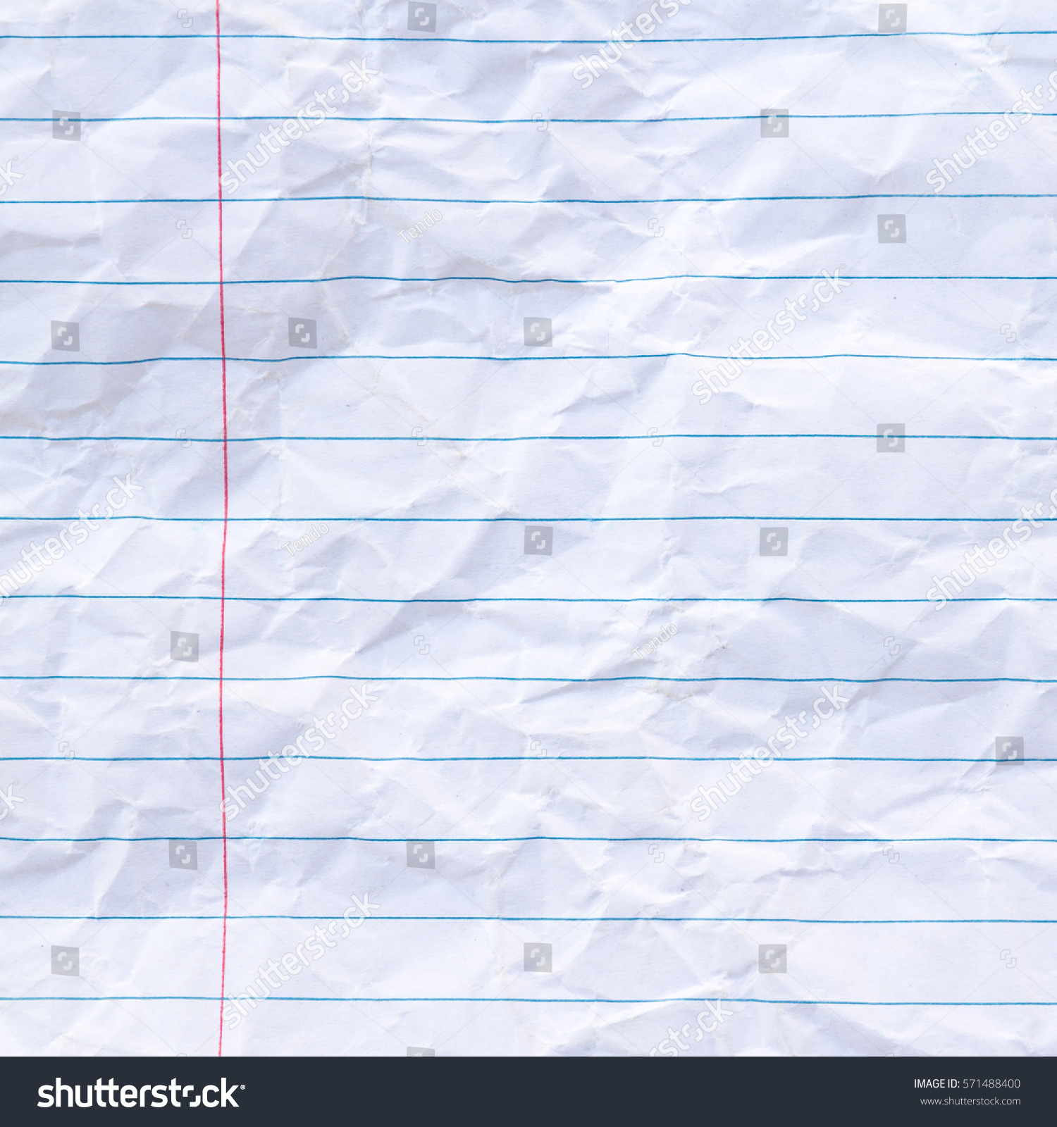 wrinkled notebook lined paper background stock photo (edit now
