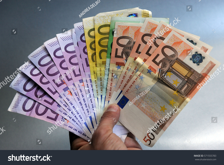 Euros Money Euro Cash Background Euro Money Banknotes