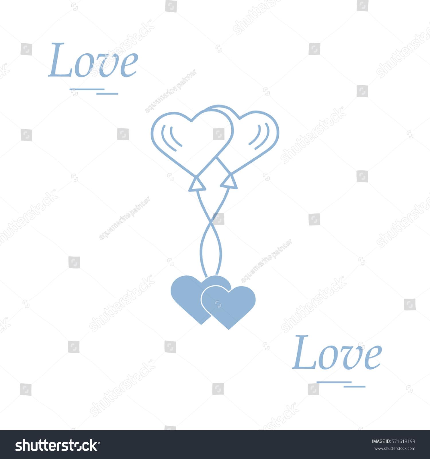 Cute vector illustration love symbols heart stock vector 571618198 cute vector illustration of love symbols heart air balloons icon and two hearts romantic biocorpaavc Choice Image