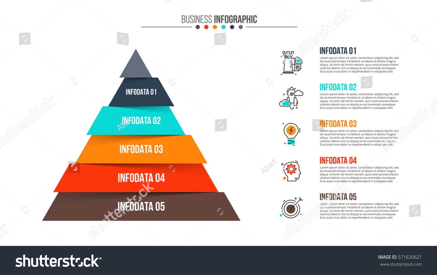 Vector Pyramid Infographic Template Diagram Graph Stock Vector HD ...