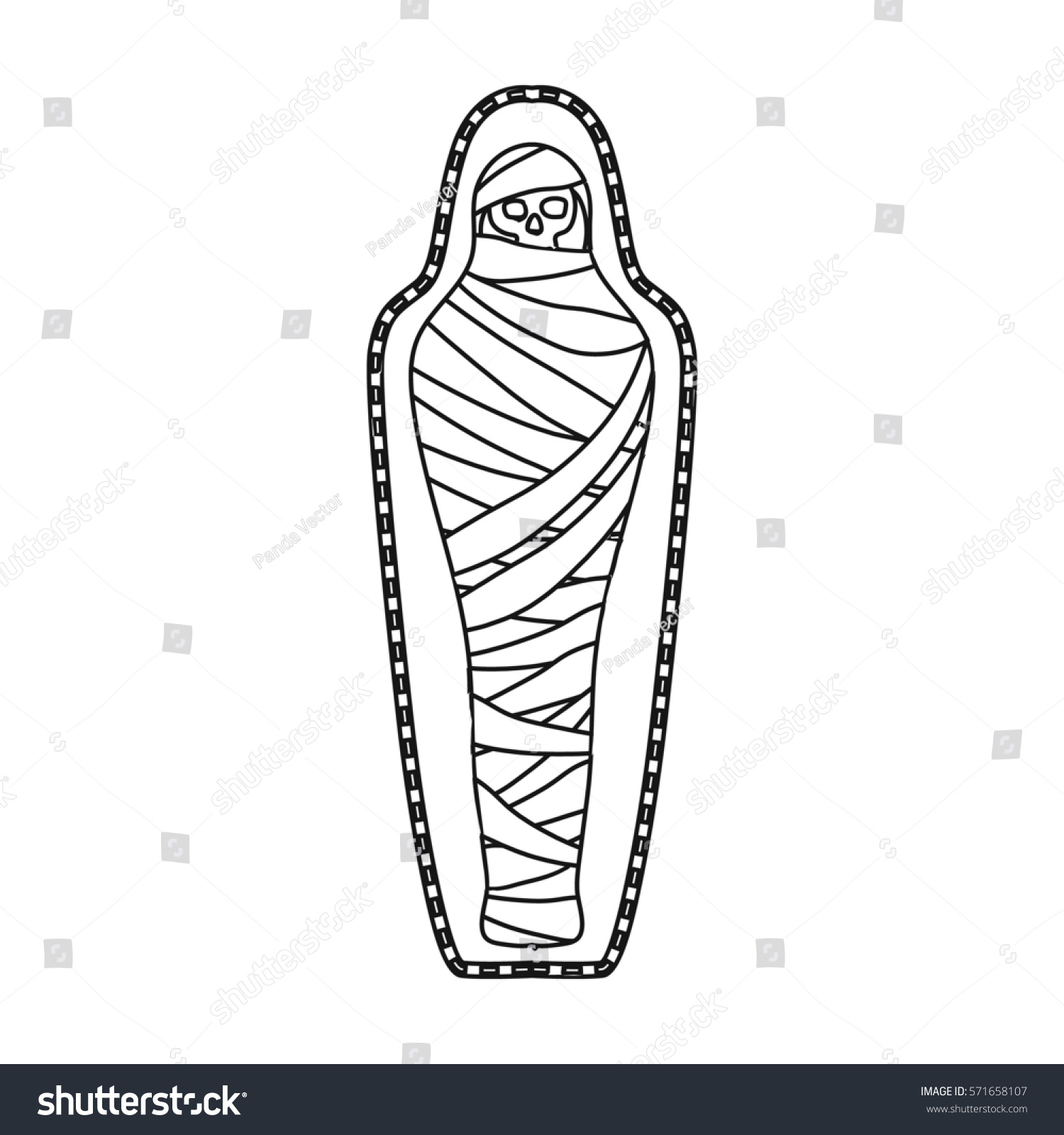 Ancient mummy icon outline style isolated stock illustration ancient mummy icon in outline style isolated on white background ancient egypt symbol stock bitmap buycottarizona