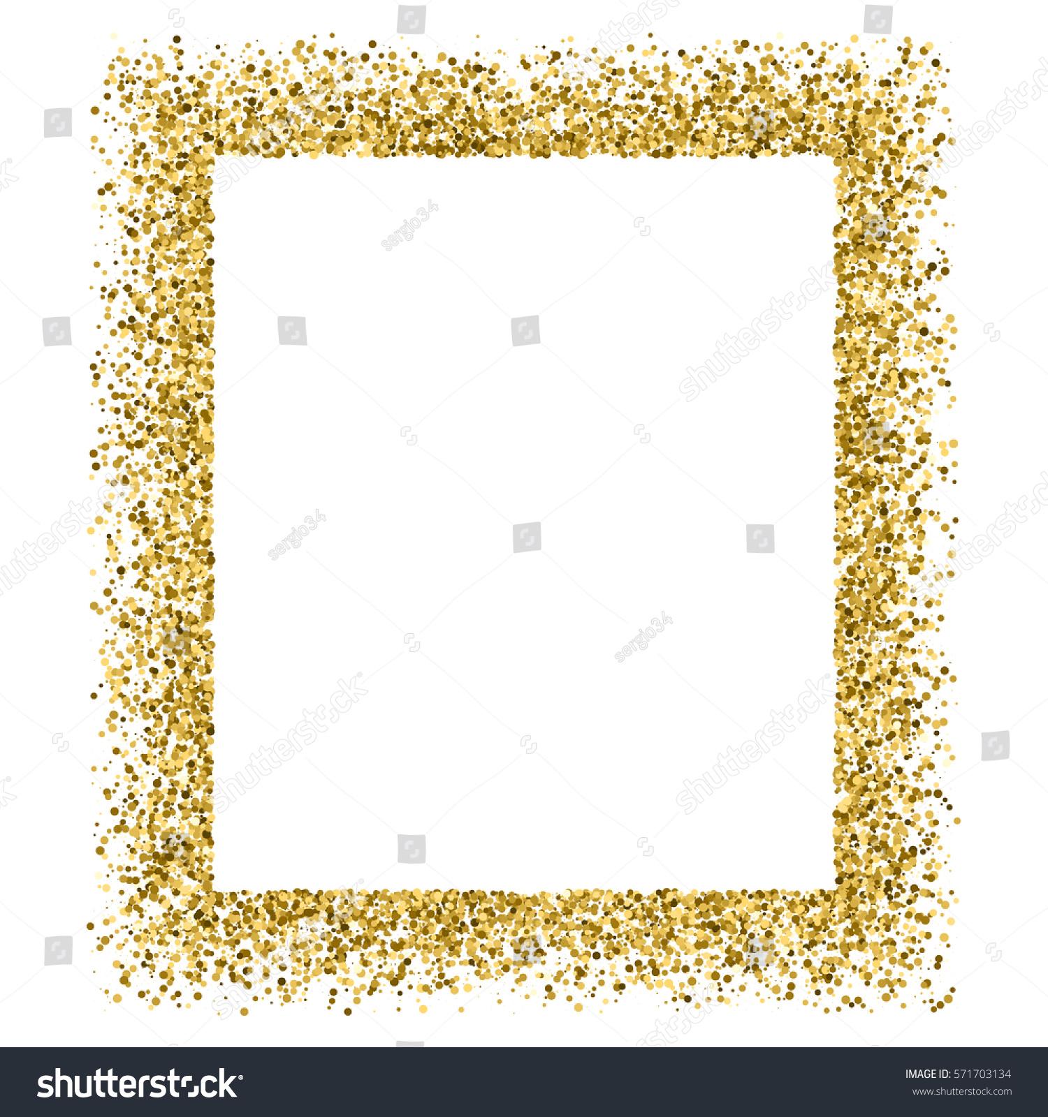 Gold Frame Glitter Texture Isolated On Stock-Vektorgrafik ...