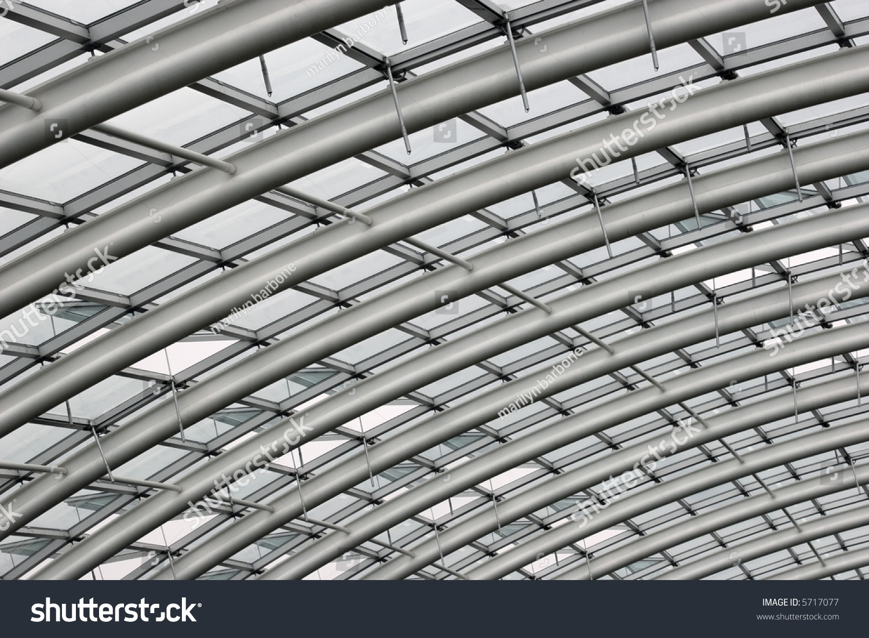 Section Curved Reinforced Steel Roof Joists Foto de stock (libre de ...