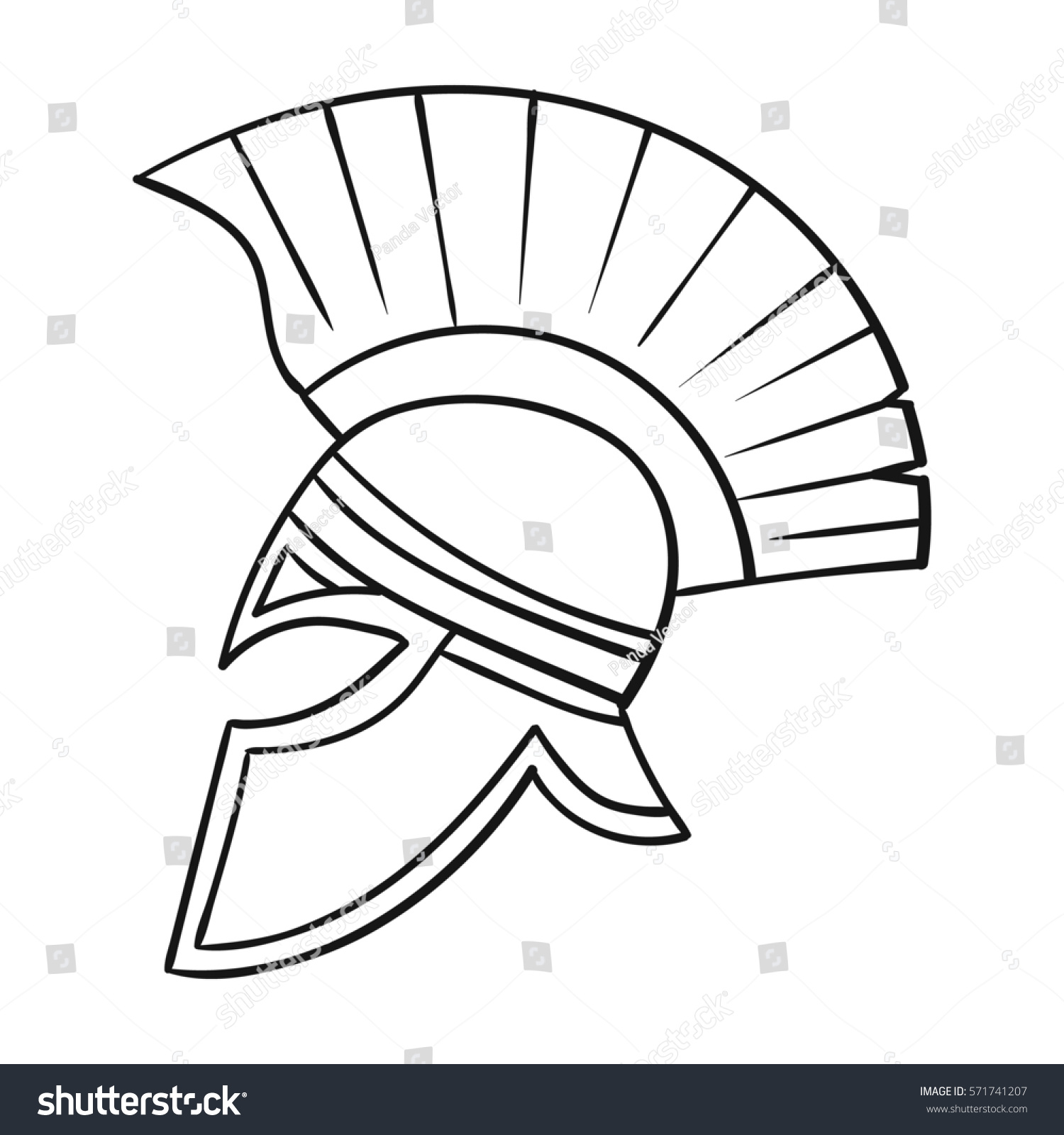 Royalty Free Roman Soldiers Helmet Icon In Outline 571741207