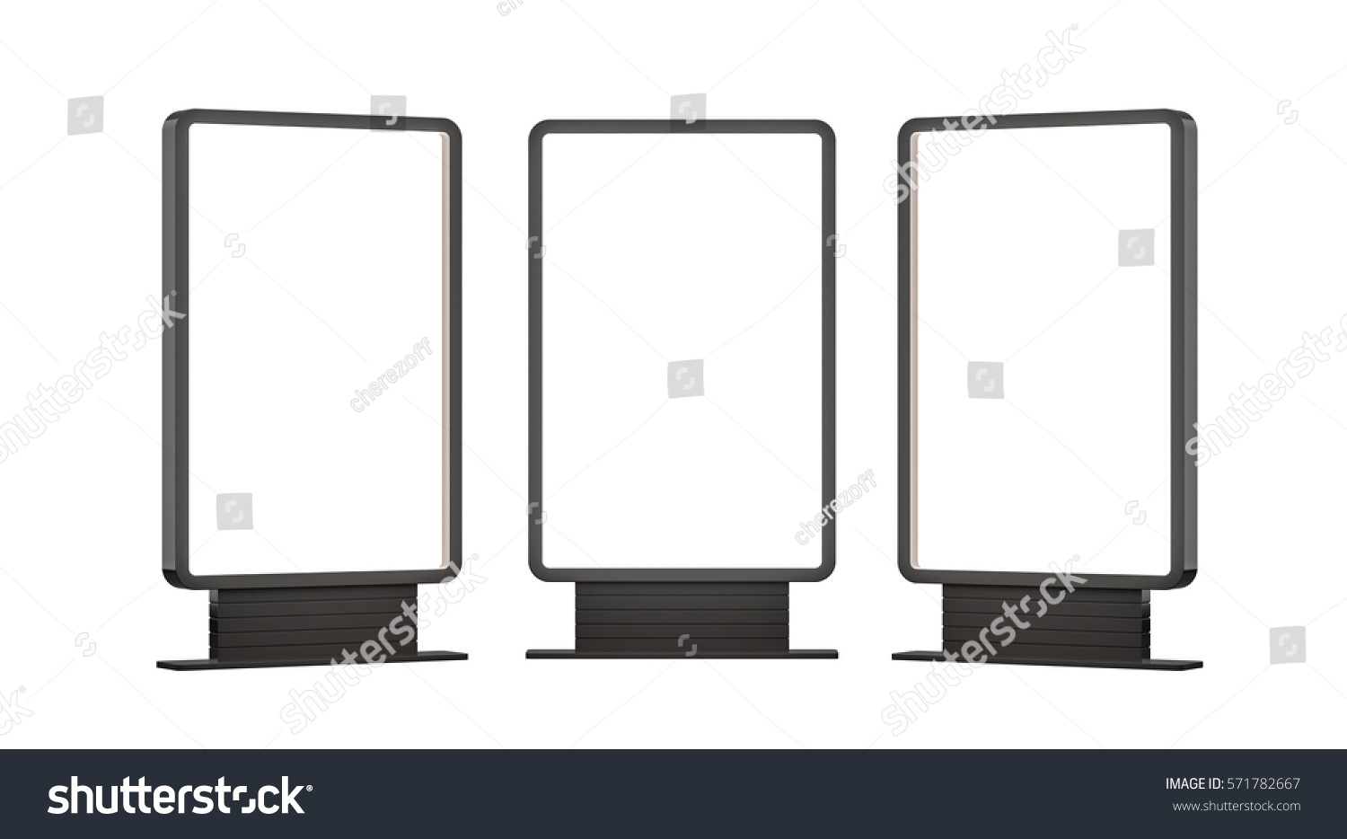 lightboxes isolated on white background 3d stock illustration 571782667 shutterstock. Black Bedroom Furniture Sets. Home Design Ideas