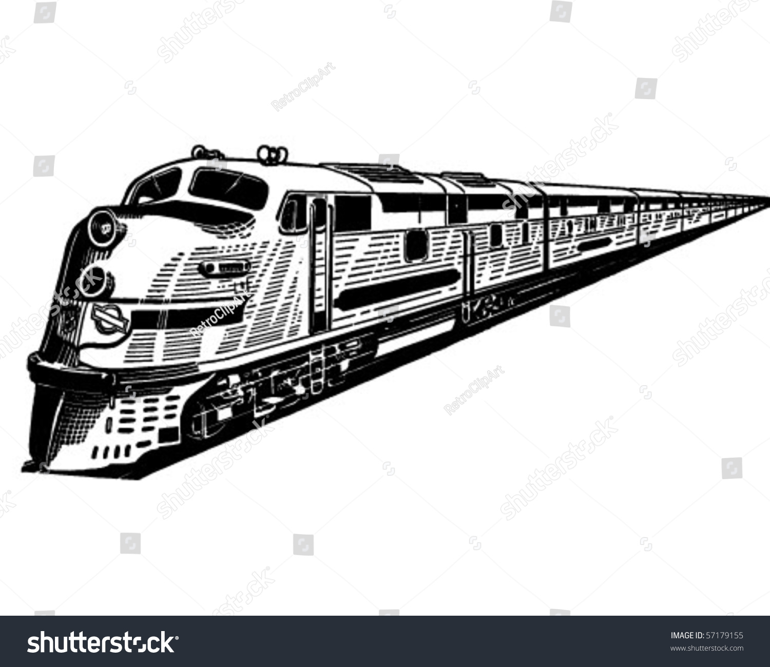 electric train clipart black and white - photo #18