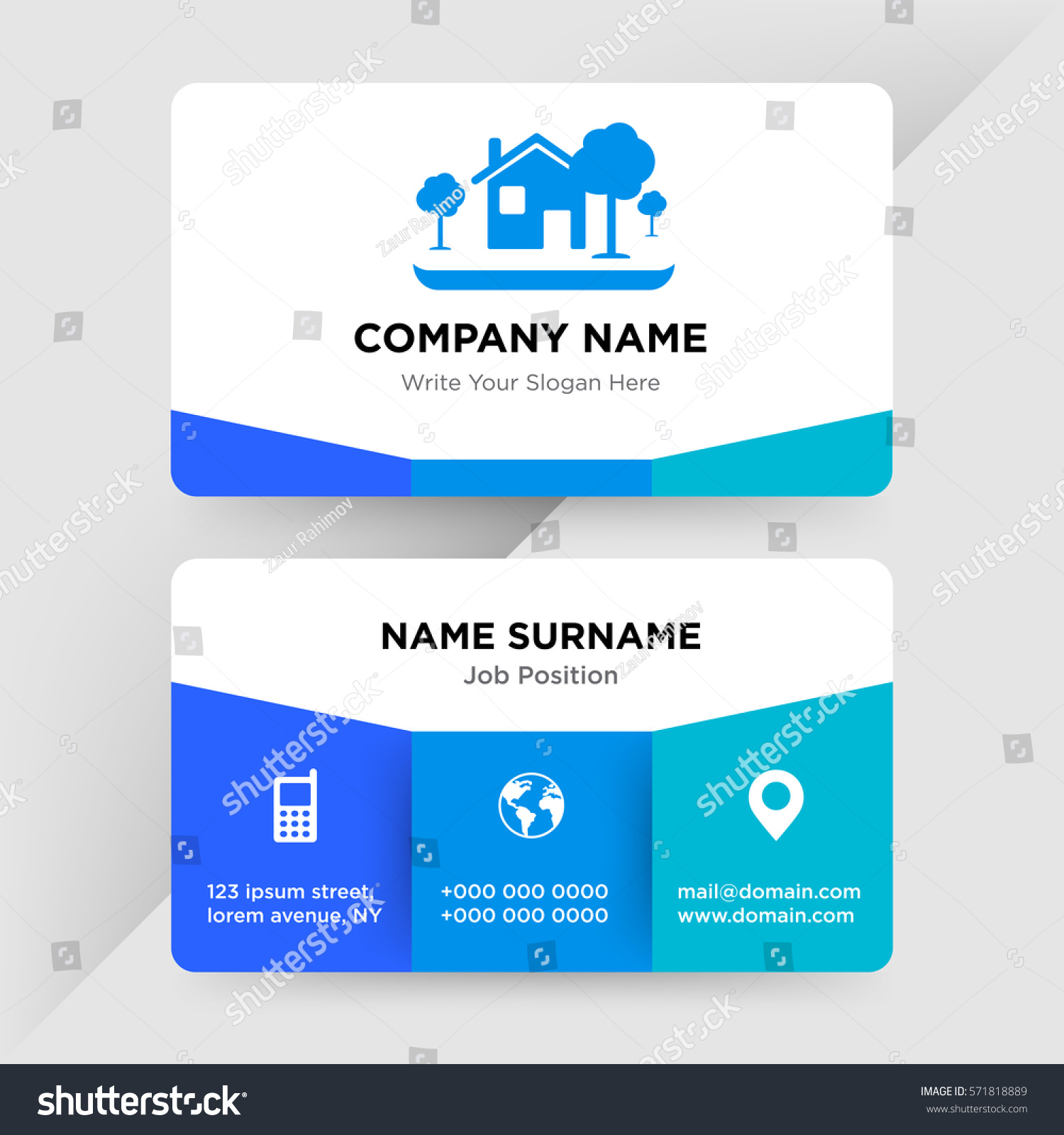 Template Business Card Architecture Construction Services Stock Vector 571818889