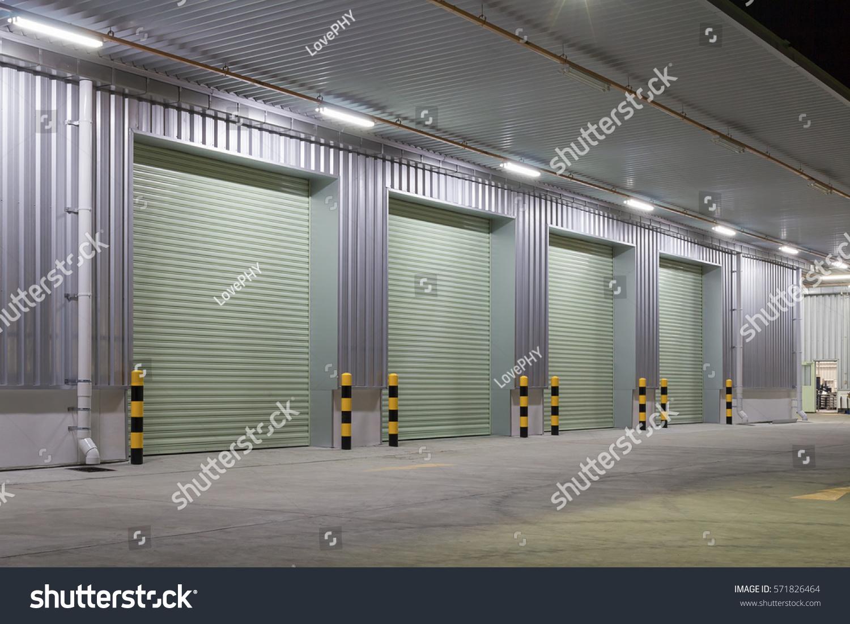 Shutter Door Roller Door Concrete Floor Stock Photo