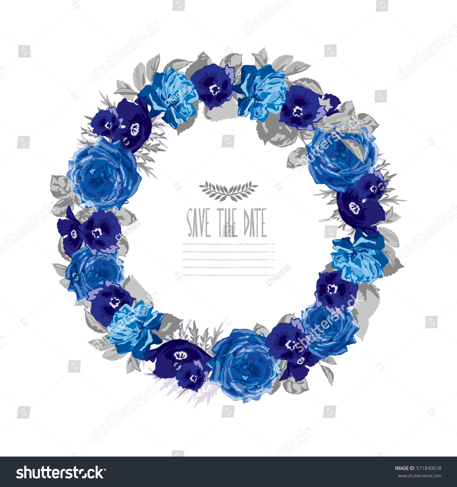 Elegant Floral Wreath Design Element Can Stock Photo (Photo, Vector ...