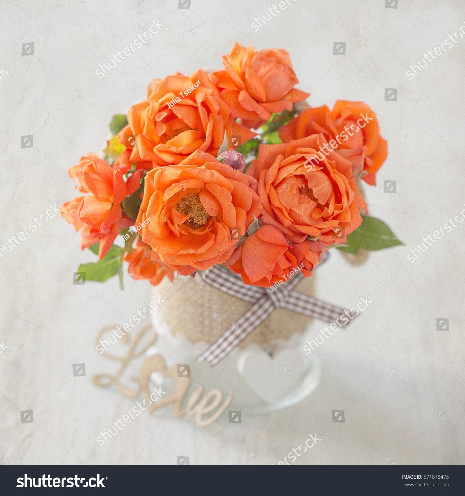 Lovely bunch flowers beautiful fresh roses stock photo edit now lovely bunch of flowers autiful fresh roses flowers in a vase decorated with a heart izmirmasajfo