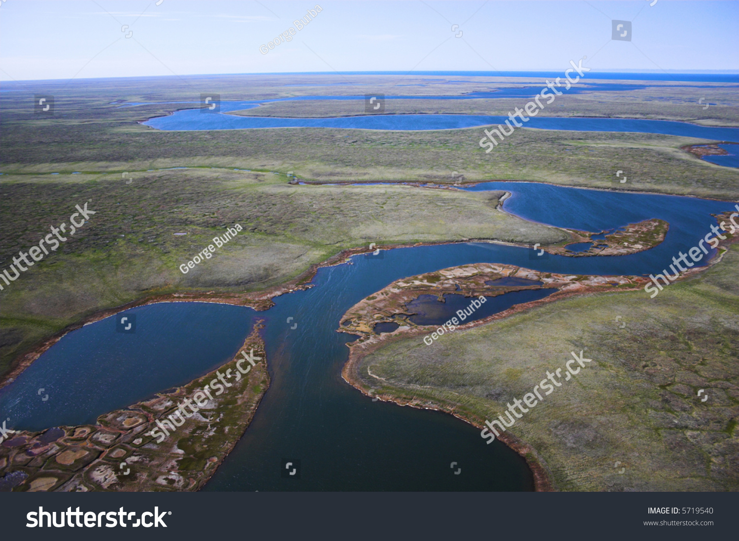 Aerial Photos Of Arctic Tundra Wetlands For Backgrounds And Textures
