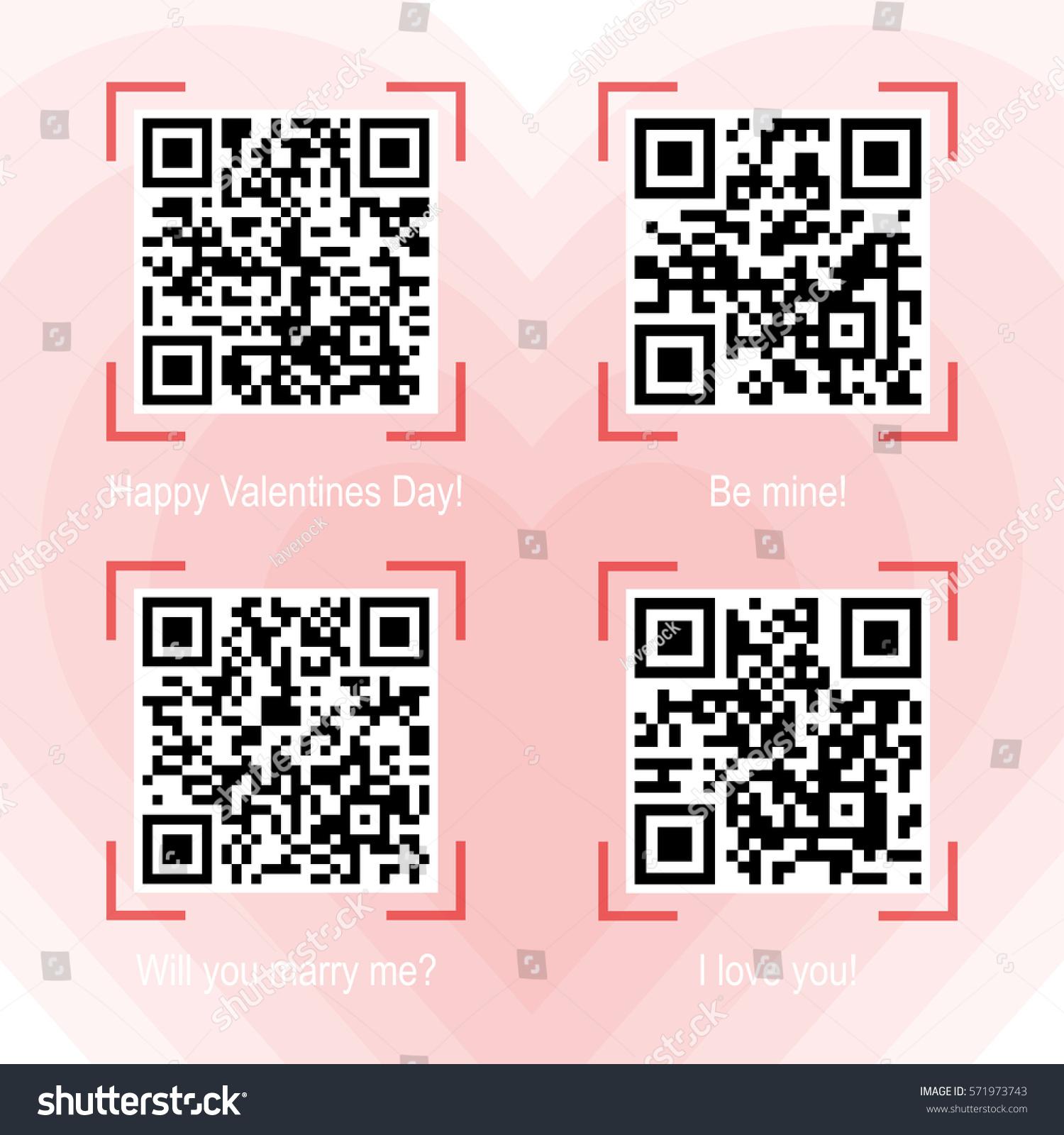 Vector Illustration Qr Code Samples On Stock Vector (Royalty