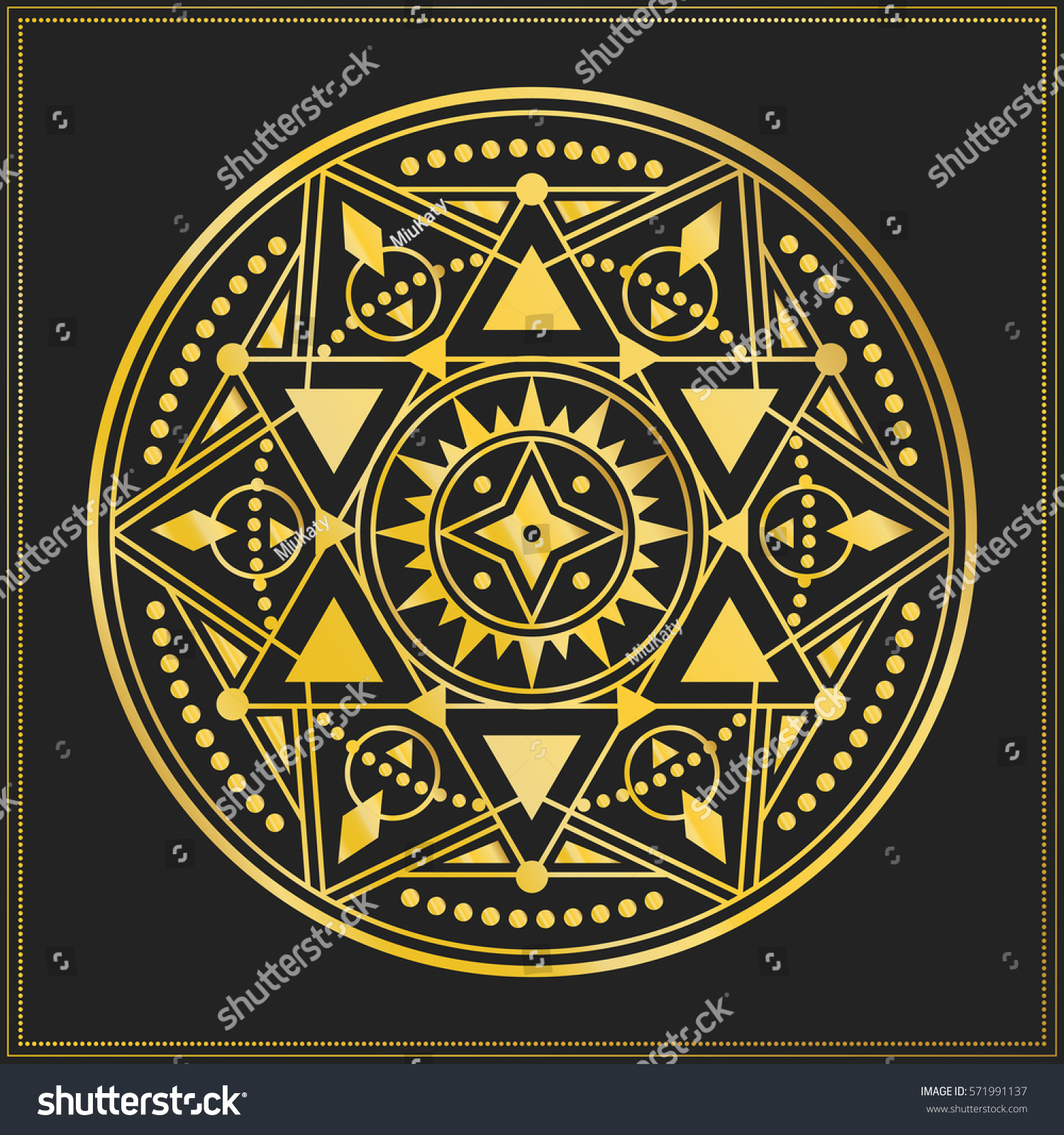 Sacred geometry symbol star alchemy astrology stock vector sacred geometry symbol with star alchemy or astrology esoteric or mystic circle print biocorpaavc Images