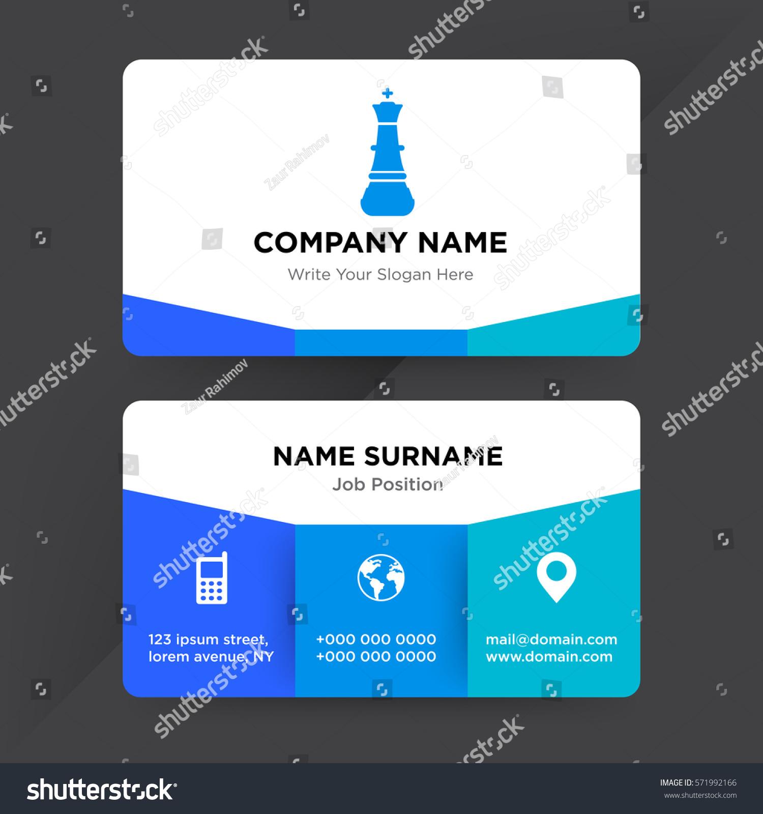 Template Business Card Management Chess School Stock Vector HD ...