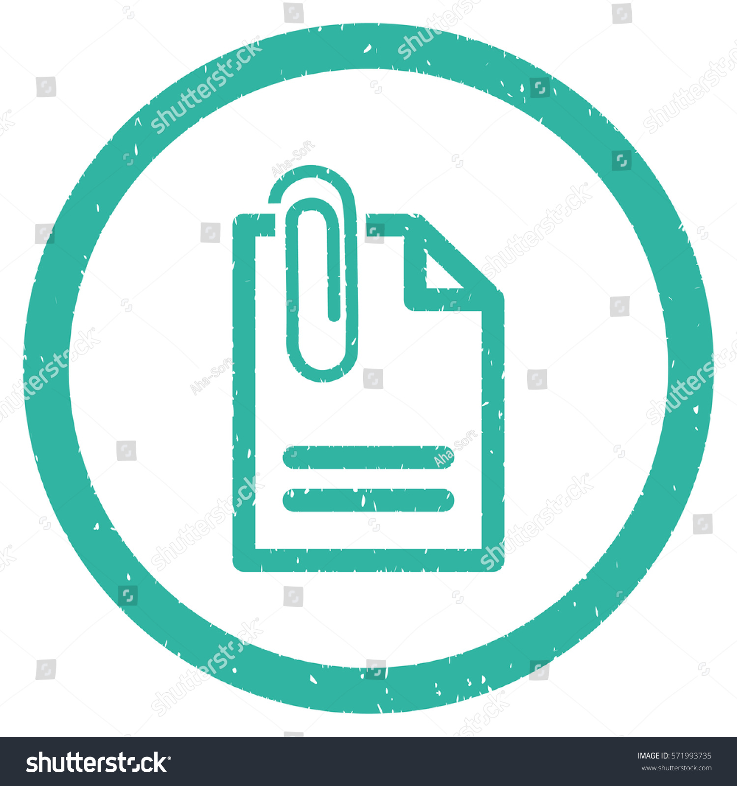 Attach document grainy textured icon inside stock illustration attach document grainy textured icon inside circle for overlay watermark stamps flat symbol with dirty biocorpaavc Choice Image