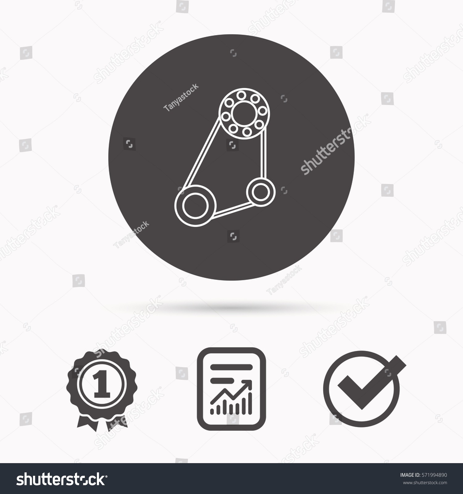 Timing Belt Icon Generator Strap Sign Stock Illustration 571994890 ...
