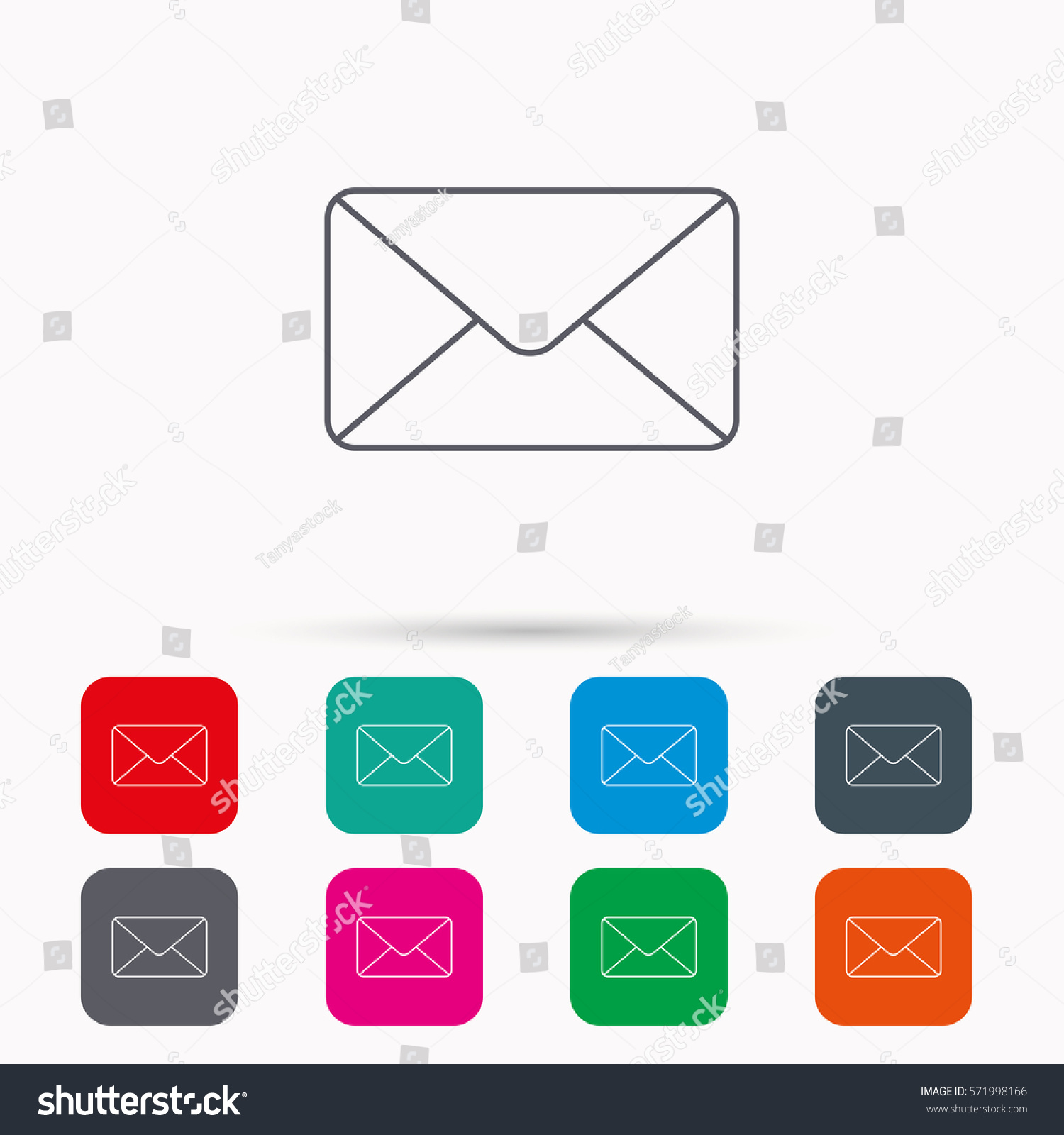 Envelope mail icon email message sign stock illustration 571998166 email message sign internet letter symbol linear icons in squares biocorpaavc