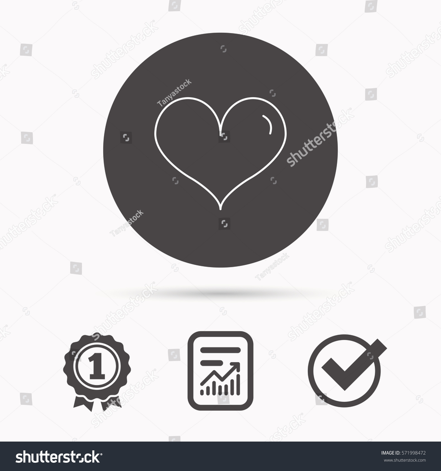 Heart Icon Love Sign Life Symbol Stock Illustration 571998472
