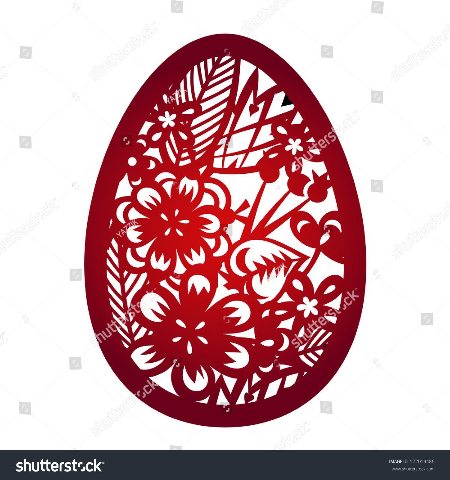 Laser Cutting Flower Pattern Decorative Easter Stock Vector ...