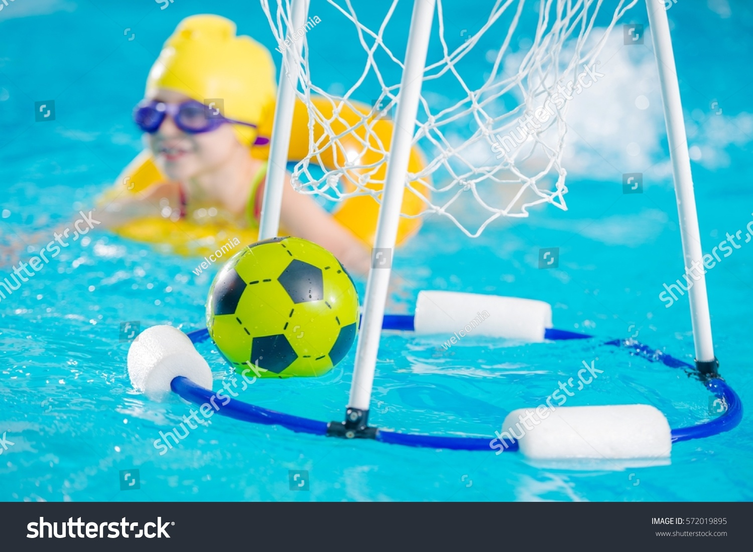 Swimming Pool Games Children Playing Ball Stock Photo (Edit Now ...
