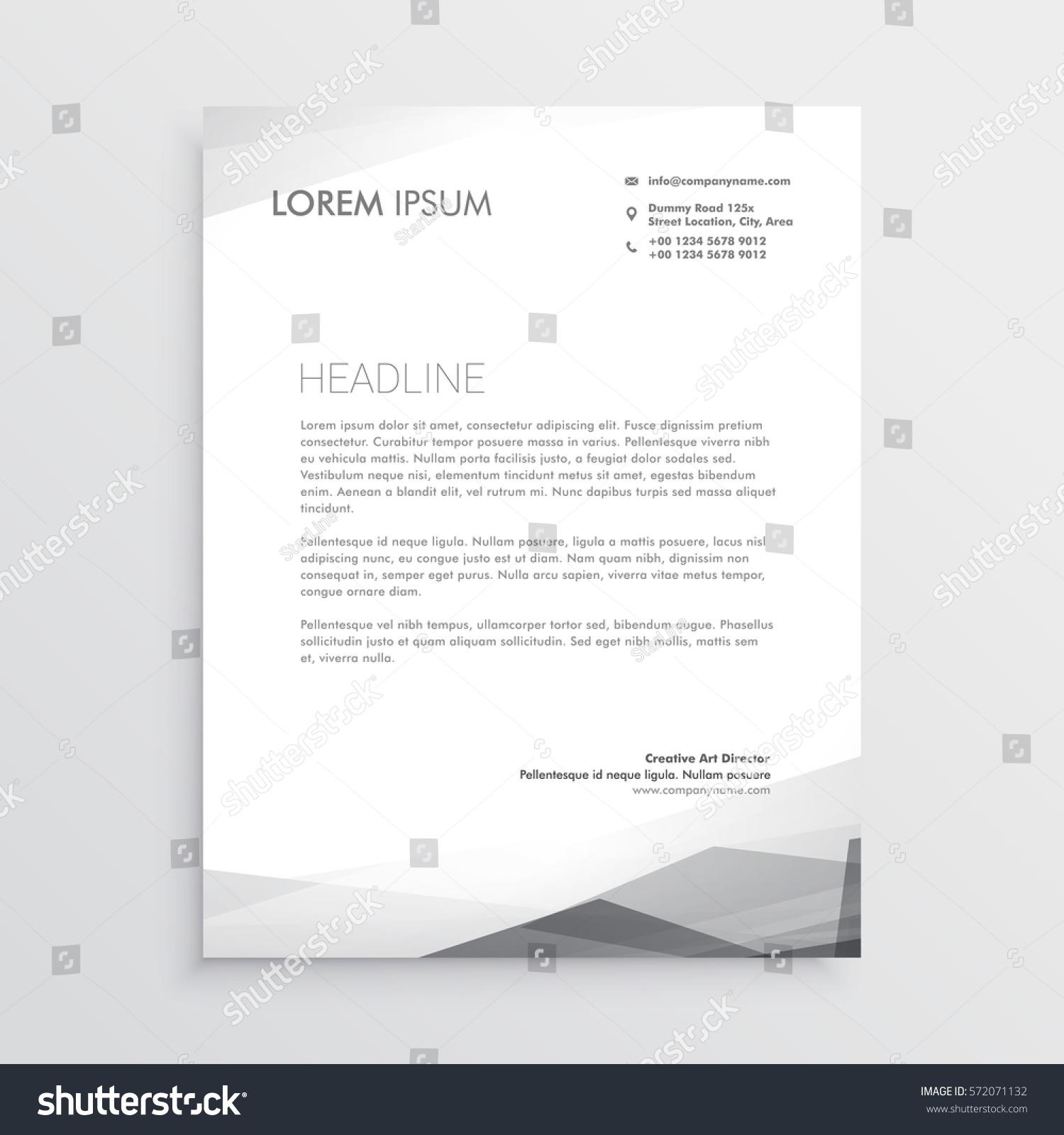 Business letterhead design template gray shade stock vector business letterhead design template in gray shade wajeb Choice Image