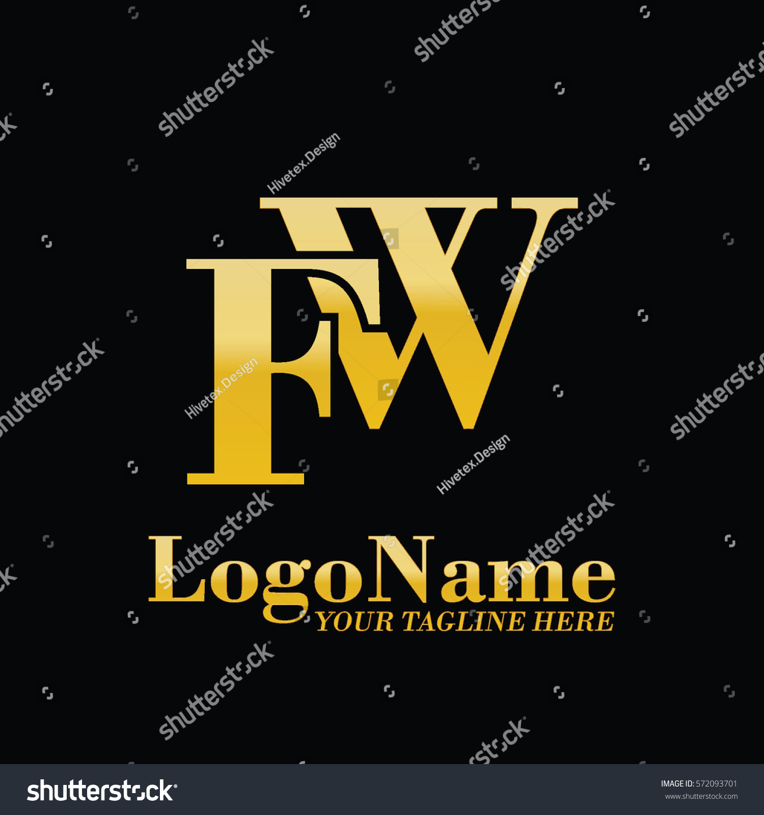 Fw Logo Stock Vector 572093701