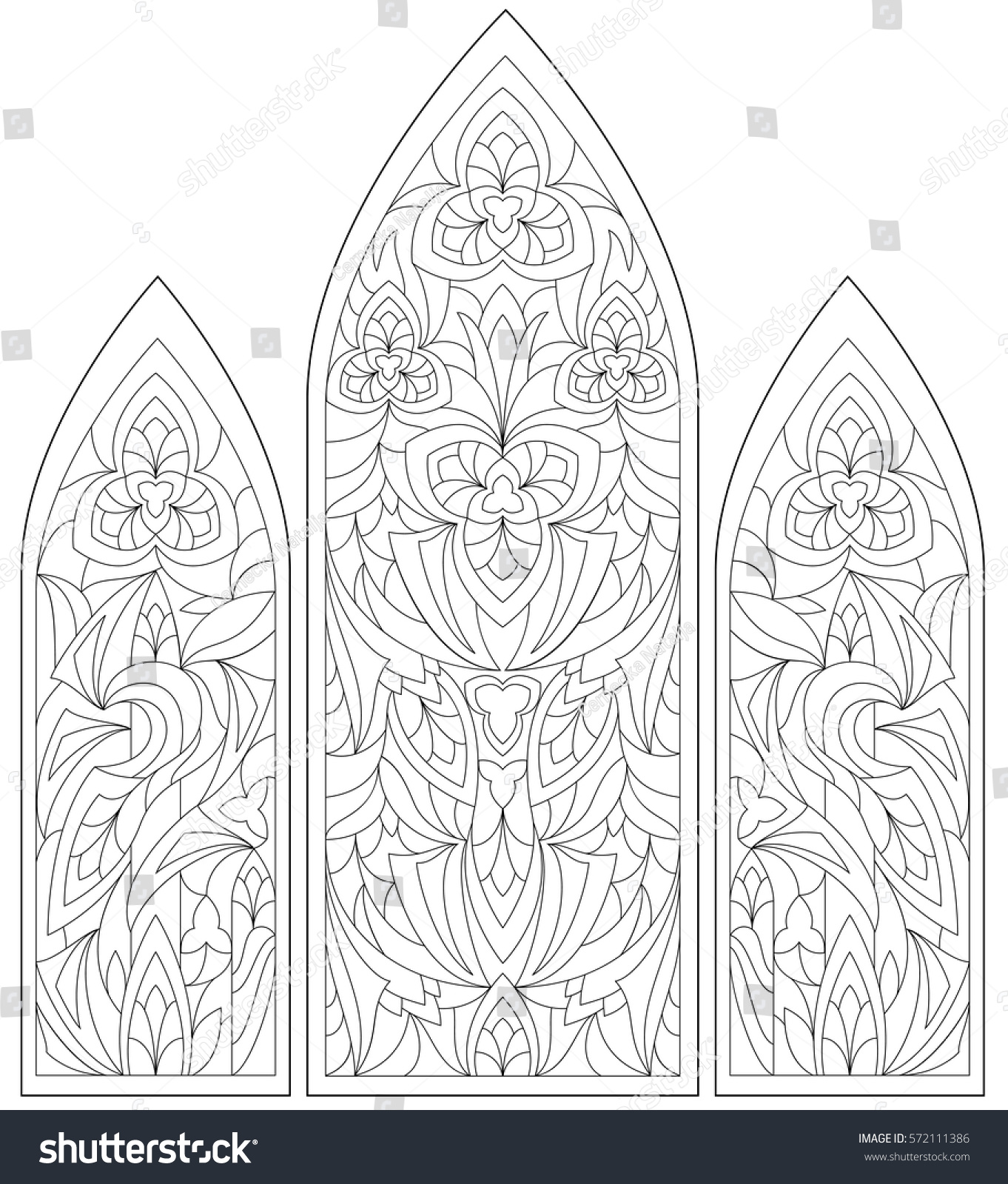 black white page coloring fantasy drawing stock vector 572111386