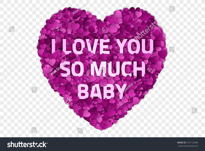 Valentines Day Vector Illustration Love You Stock-Vektorgrafik ...