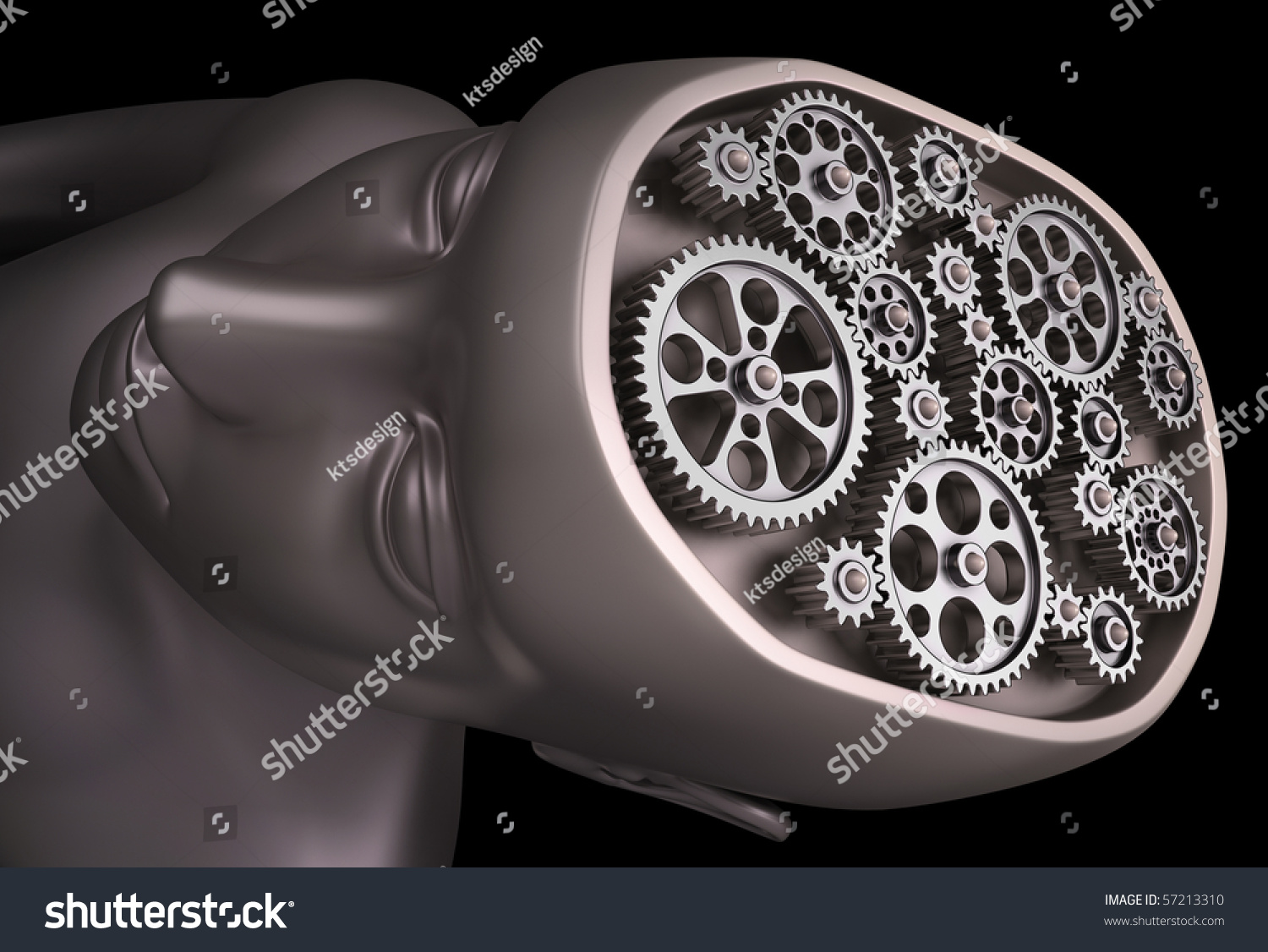 Human Brain Set Gears Important Parts Stock Illustration 57213310 Of An Airplane And What They Do The Is A Our Are Interconnected