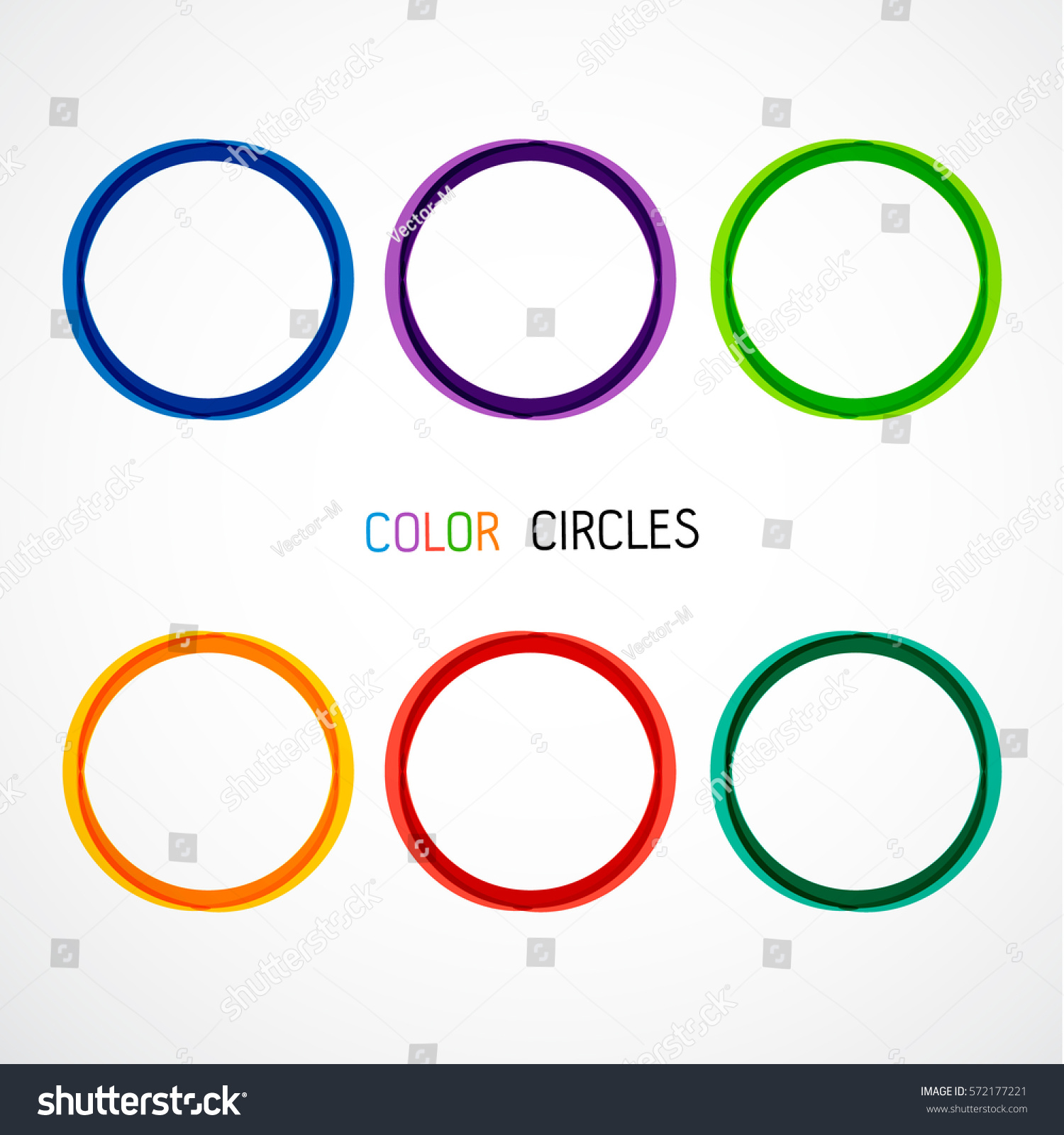 circle set vector illustration business abstract stock vector