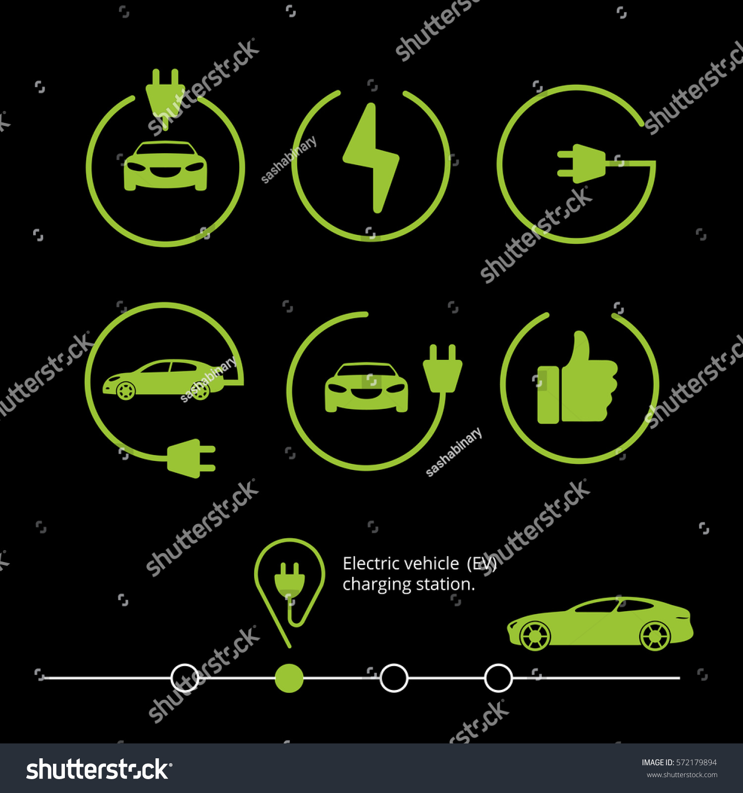 Vector Electric Vehicle Car Icon Stock Royalty Free Circuits Circuitsymbols Jpg 646 Electrical Hybrid Illustration