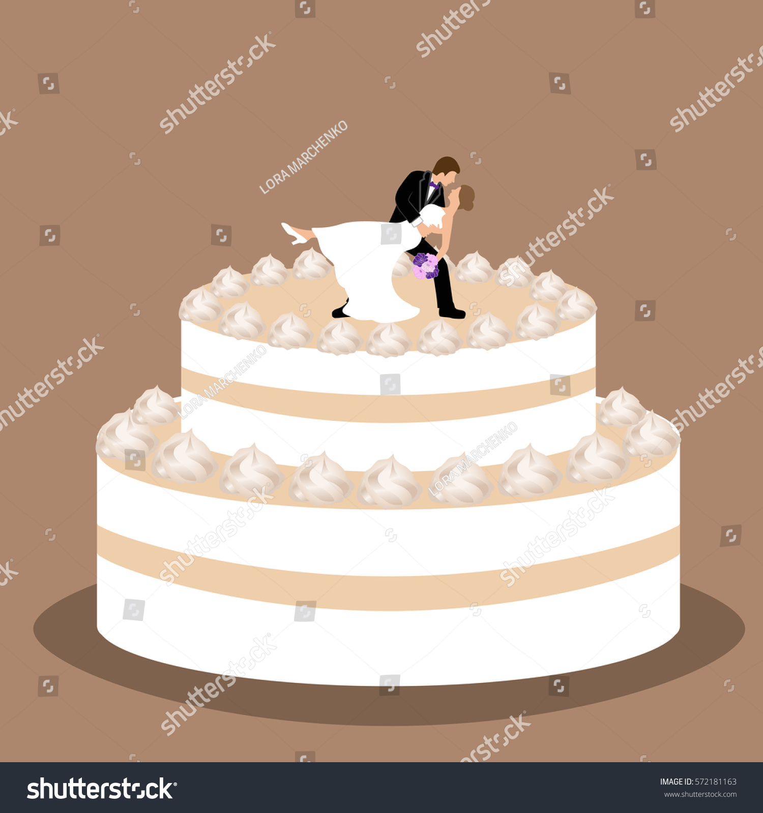 wedding cake vector wedding cake groom figurine cake stock vector 26758