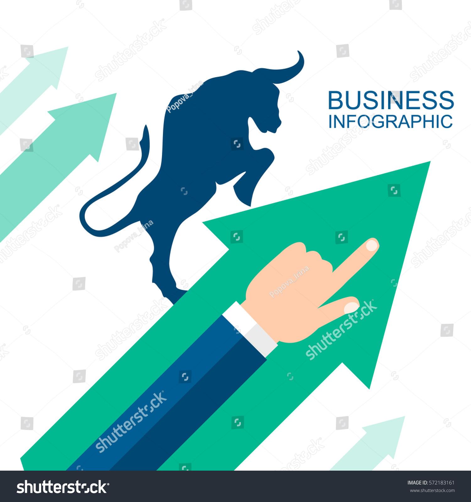 Bullish Symbols On Stock Market Vector Stock Vector Royalty Free