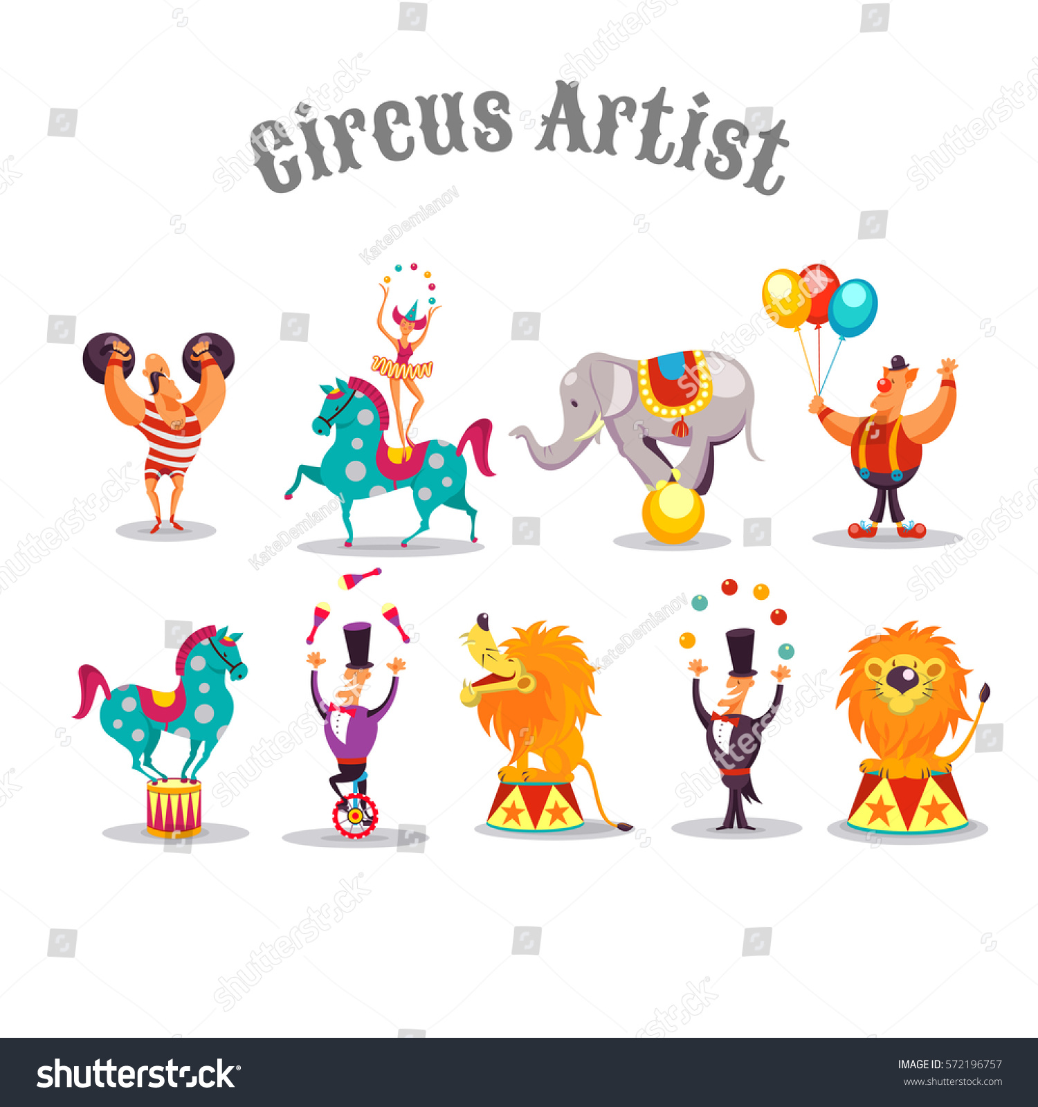 Circus acrobat cartoon - photo#32