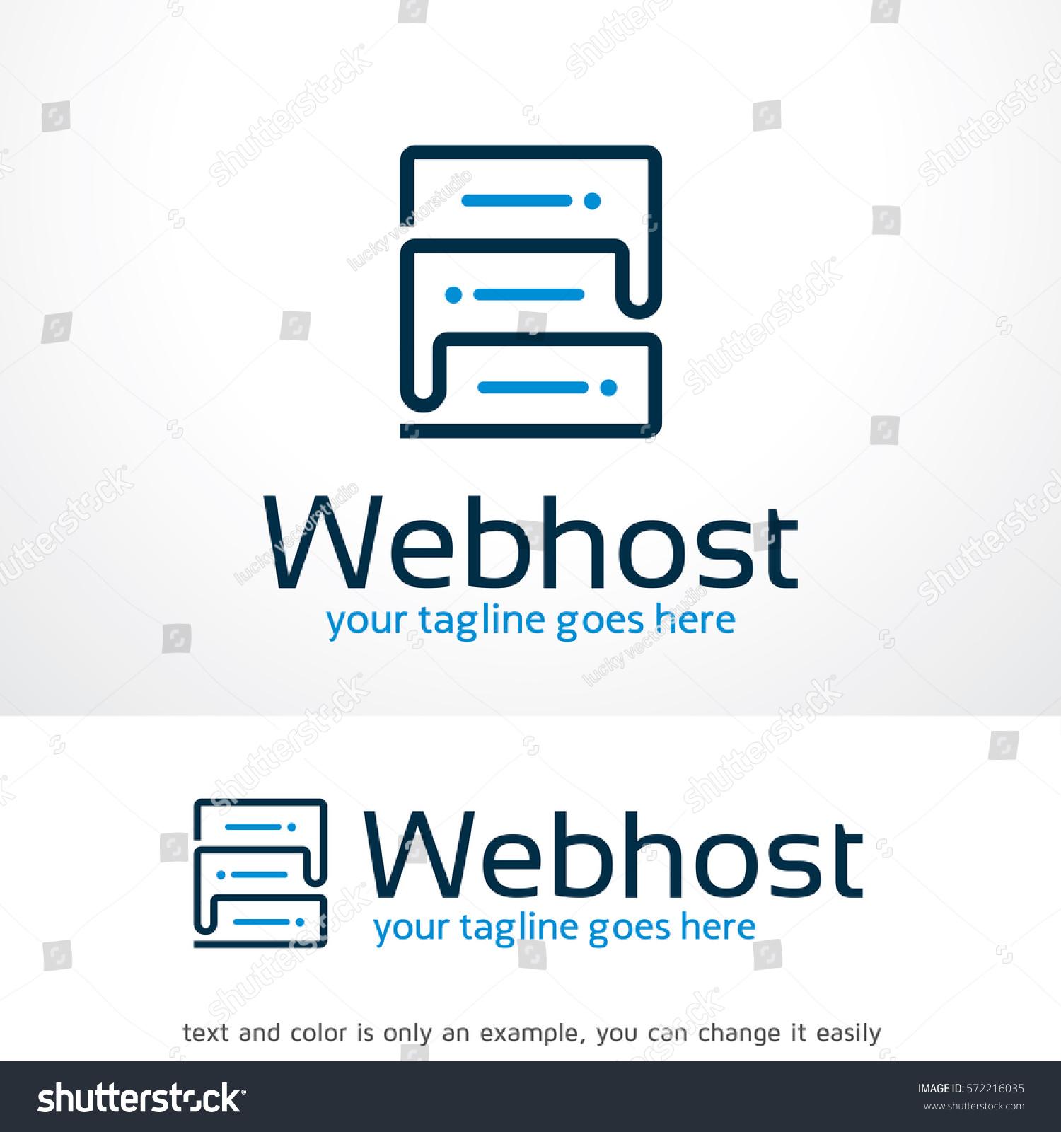 Web Hosting Logo Template Design Vector Stock-Vektorgrafik 572216035 ...