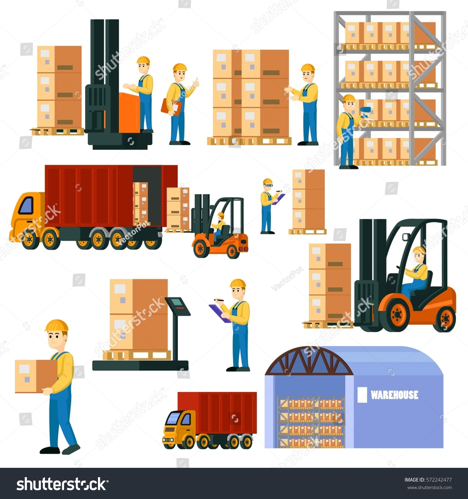 colorful logistic warehouse set storage workers stock weightlifting clipart border weightlifting clipart transparent png