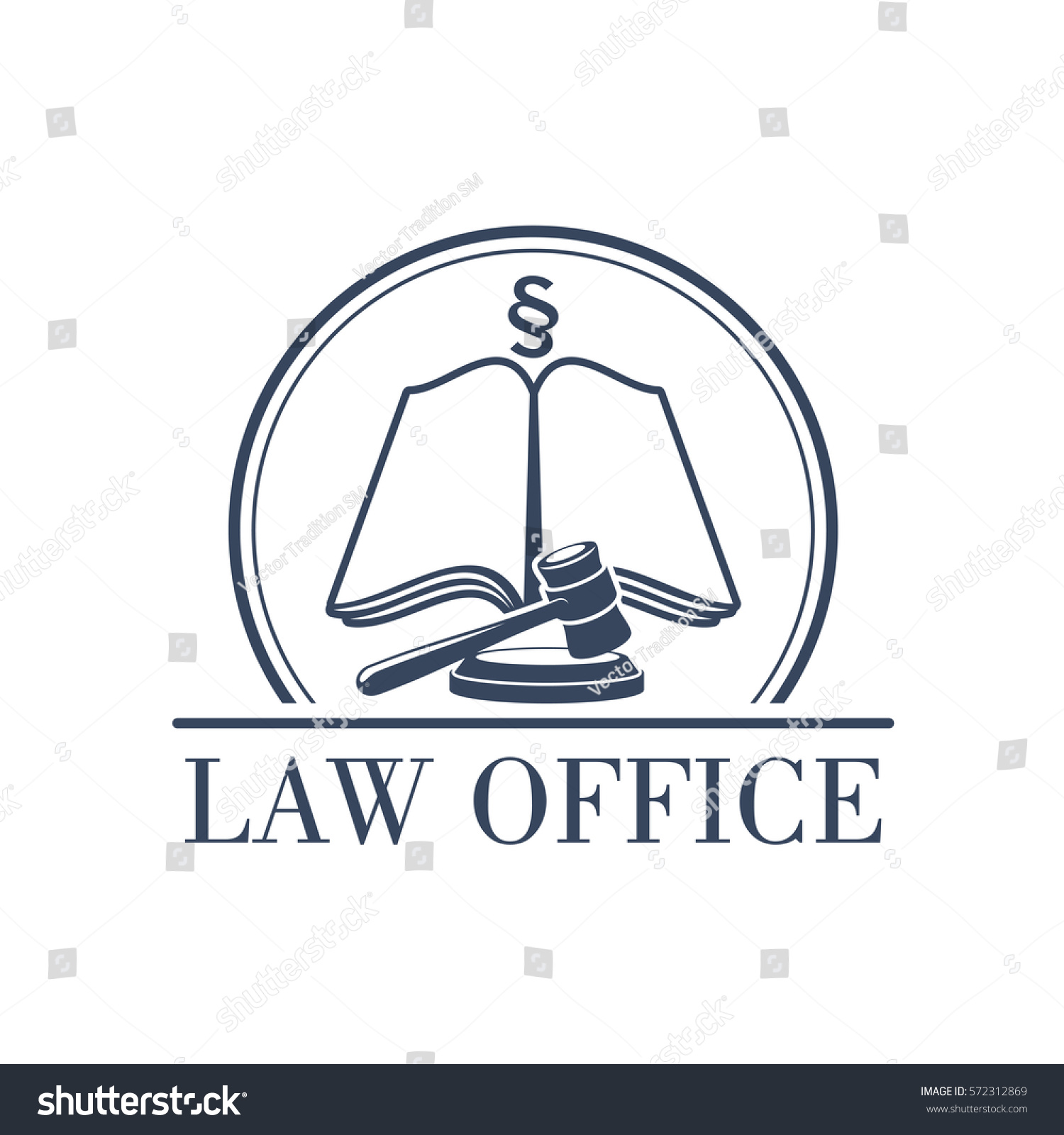 Legal office icon symbol judge gavel stock vector 572312869 legal office icon with symbol of judge gavel justice law code silcrow section sign buycottarizona Choice Image