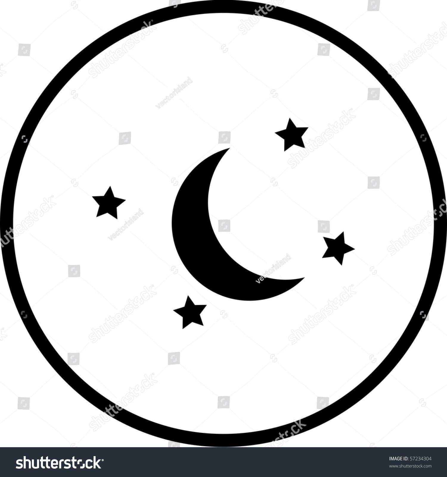 Moon Stars Symbol Stock Illustration 57234304 Shutterstock
