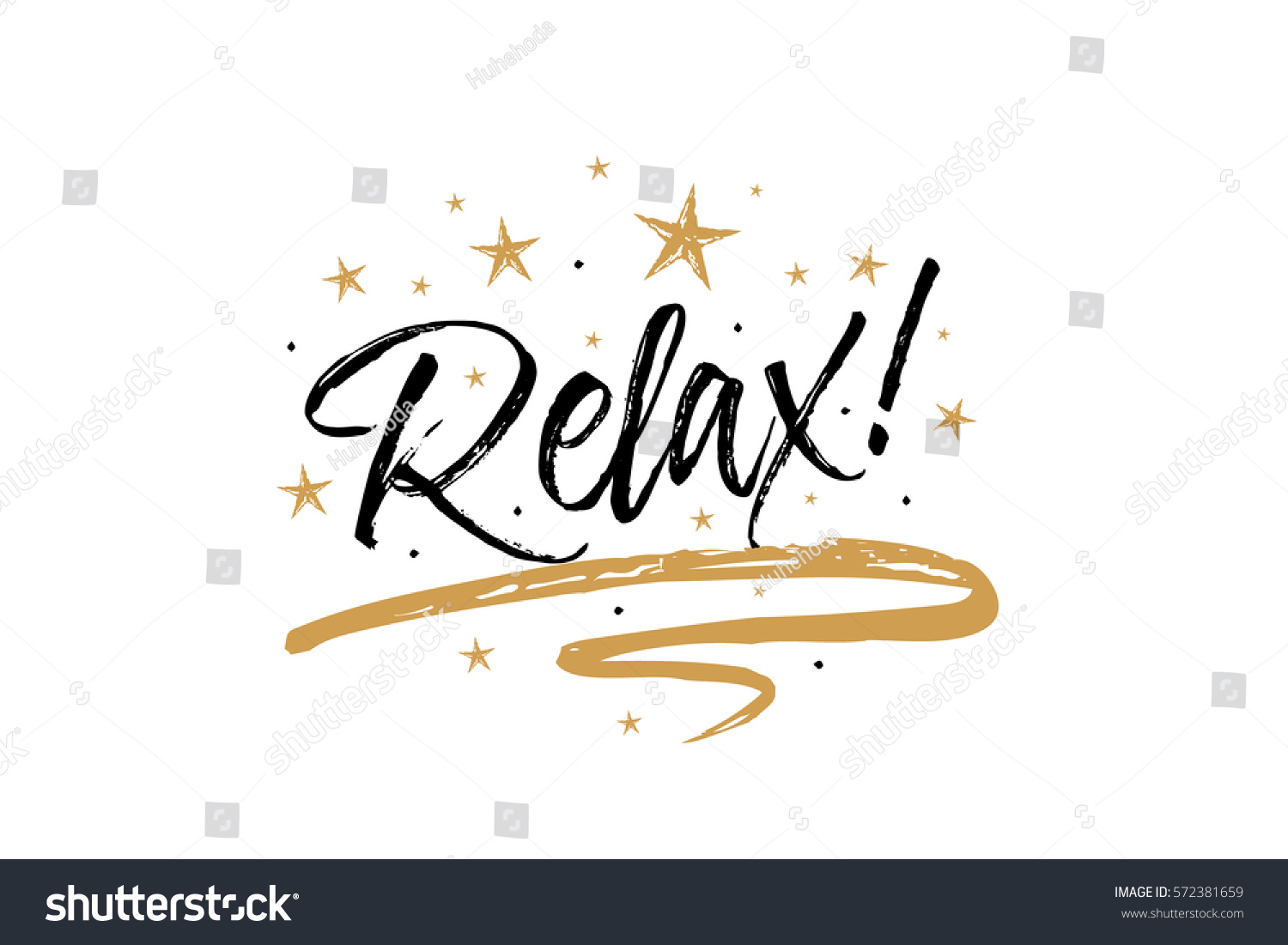 Relax card banner beautiful greeting scratched stock