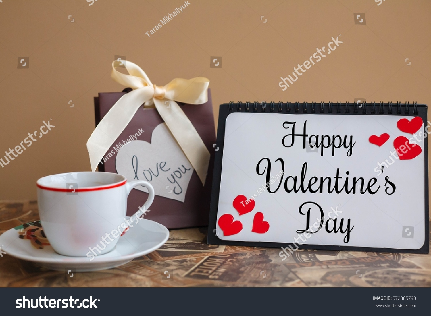 Wedding Gift Card Inscriptions : Happy Valentines Day Card Inscription Stock Photo 572385793 ...