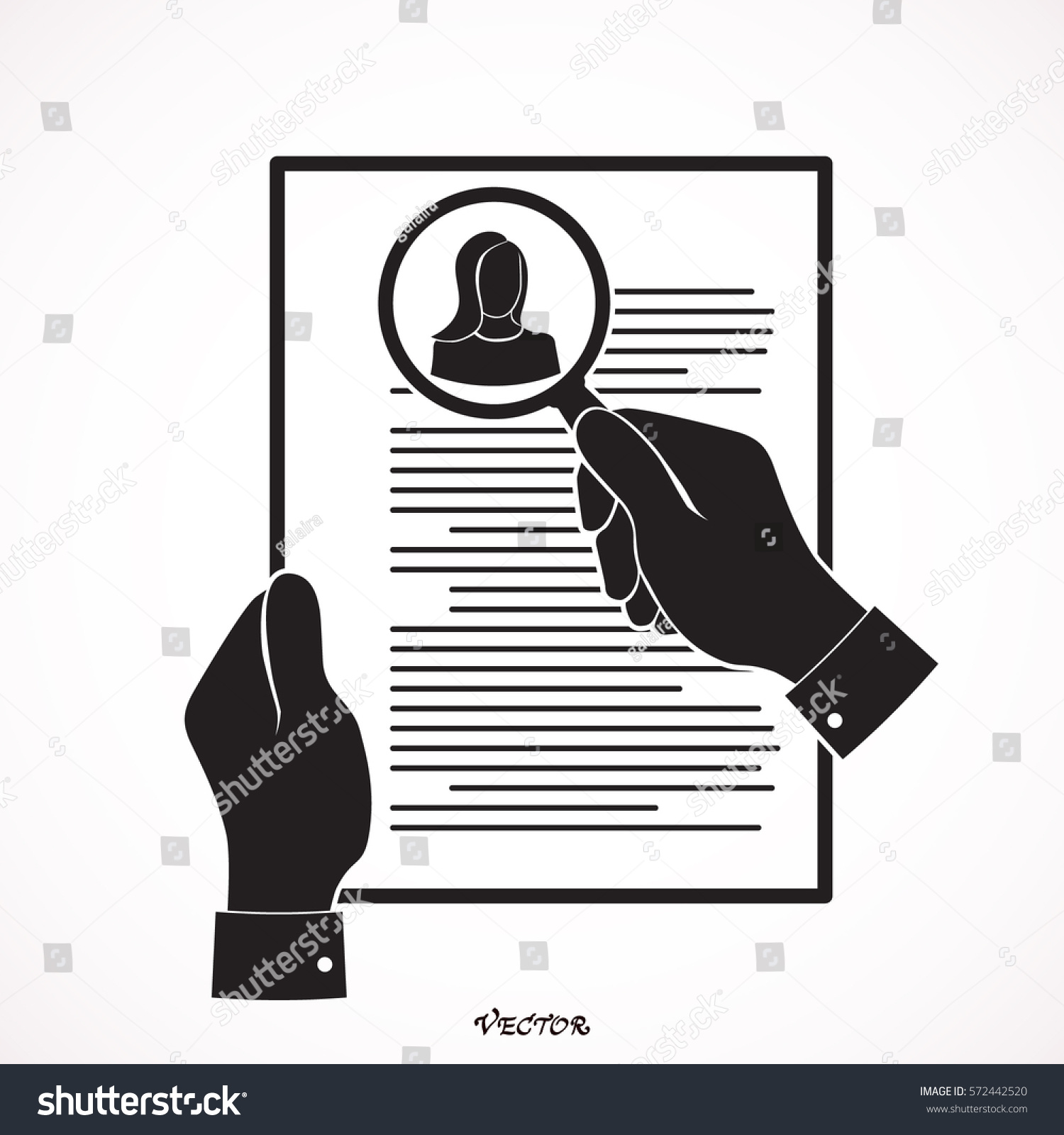 Hr Manager Searching Right Candidate Job Stock Vector 572442520 ...