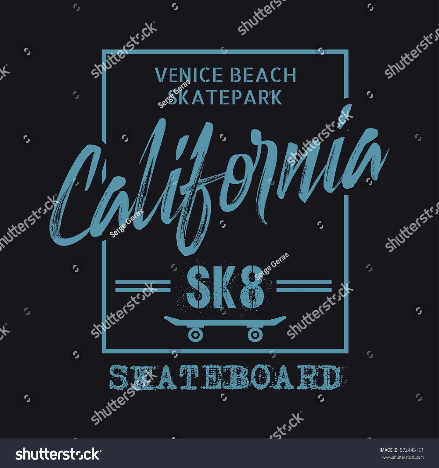 Vector Illustration On Theme Skateboarding Skateboard Vector de ...