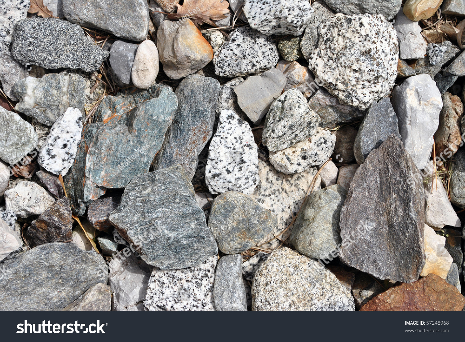 Sharp Irregular Stones Various Types Colorful Stock Photo 57248968 ...
