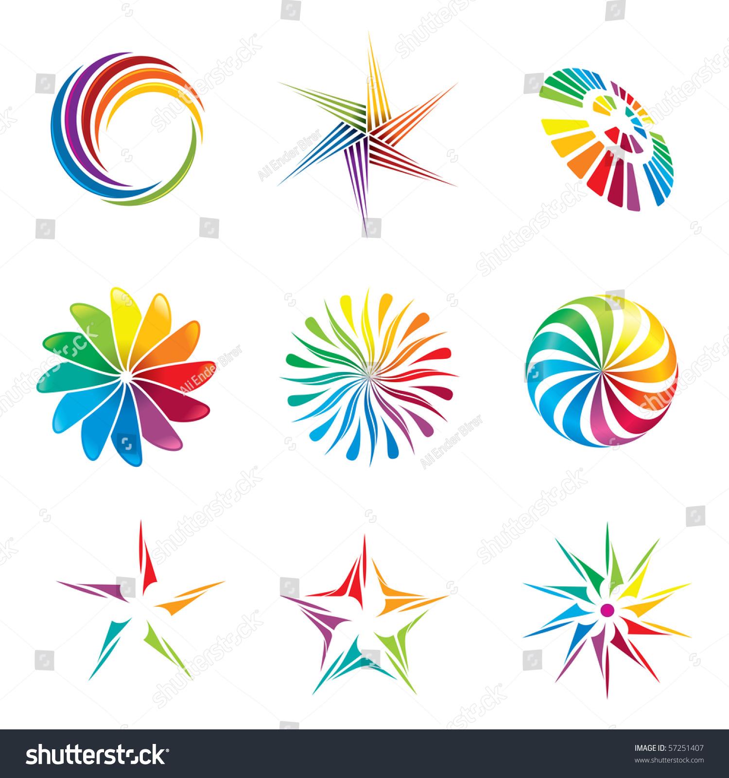 Visual Design Elements : Set colorful graphic design elements stock vector