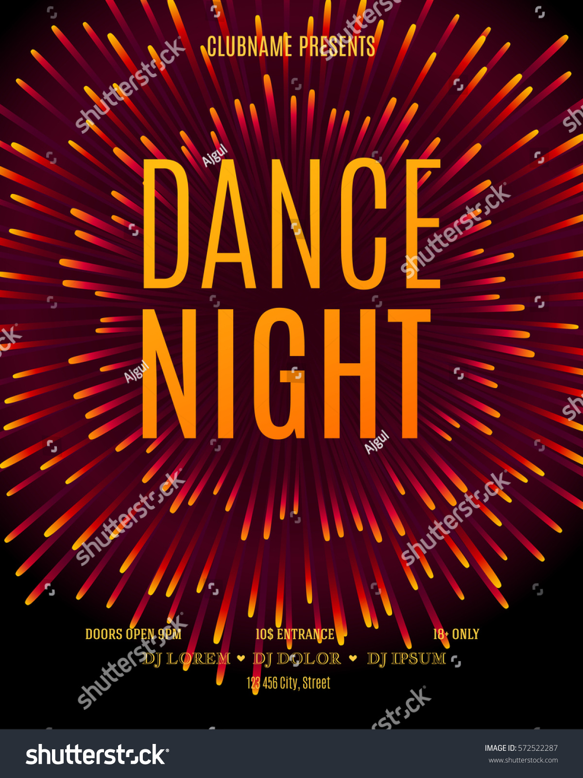 royalty free dance night poster template modern 572522287 stock