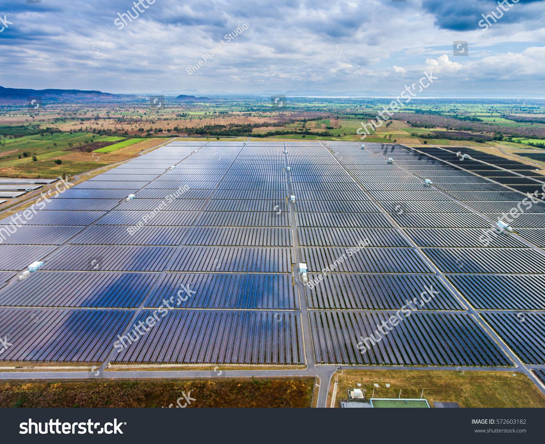 Solar farm aerial view large farm stock photo 572603182 for Solar ranch