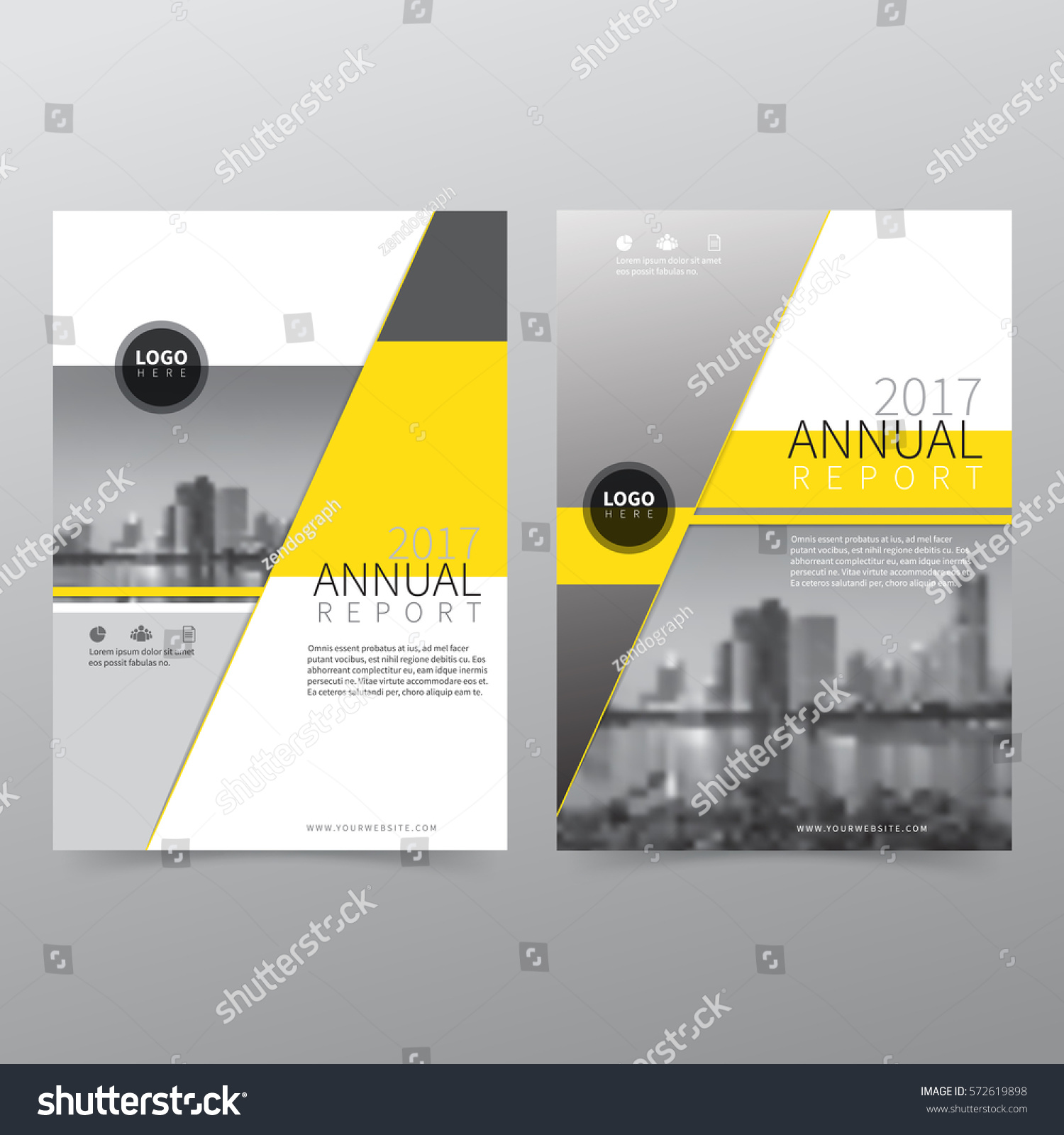 Annual Report Book Cover Design : Annual report flyer presentation brochure front lager